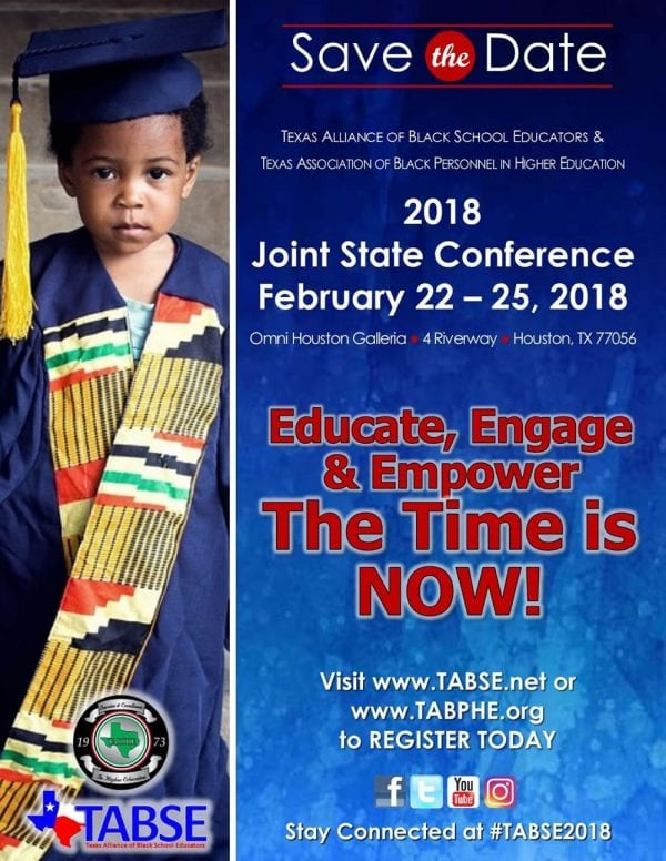 2018 TABSE State Conference Flyer