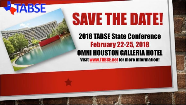 Save The Date - 2018 TABSE Conference February 22-25