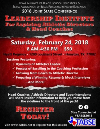 TABSE Leadership Pipeline for Aspiring ADs and Head Coaches 2018