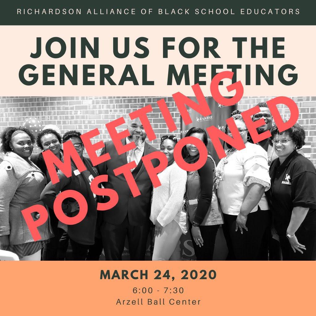 RAABSE 24th General Meeting Postponed