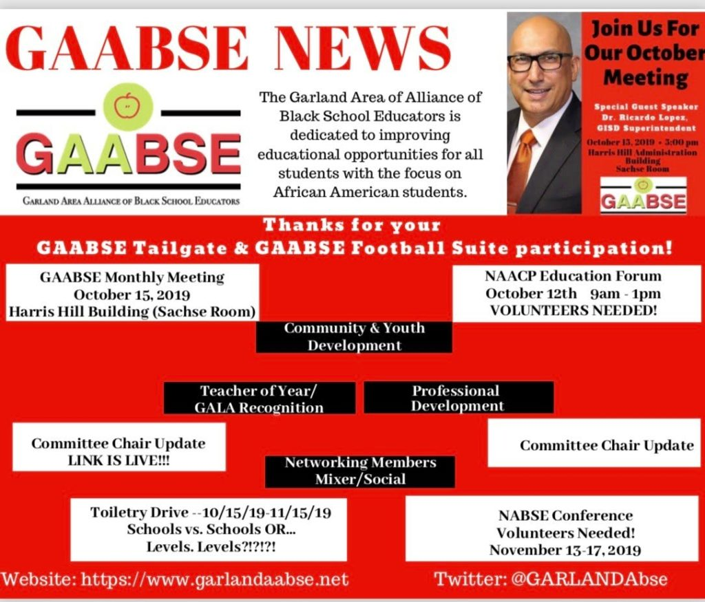 GAABSE October Events
