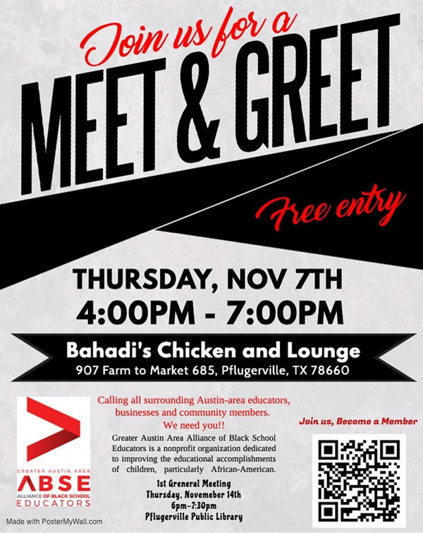 Greater Austin AABSE - Meet and Greet November 7th