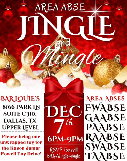 TABSE AREA ABSE Jingle and Mingle December 8th