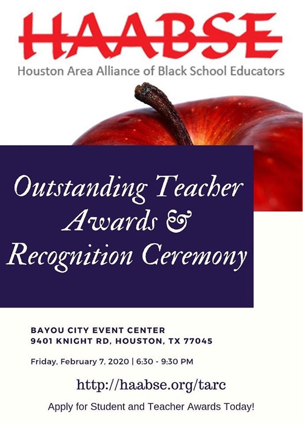 HAABSE Outstanding Teacher Award 2-7-2020