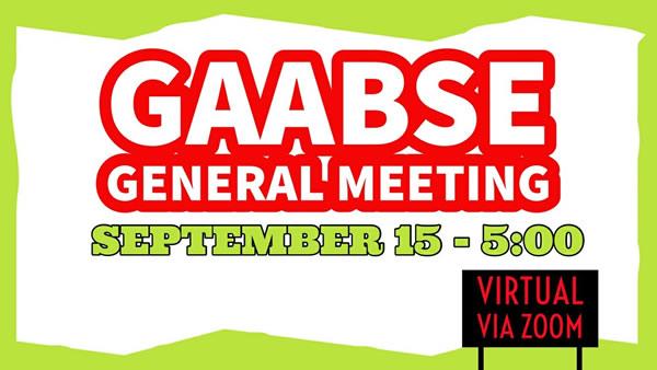 GAABSE General Meeting Sept 15th 2020