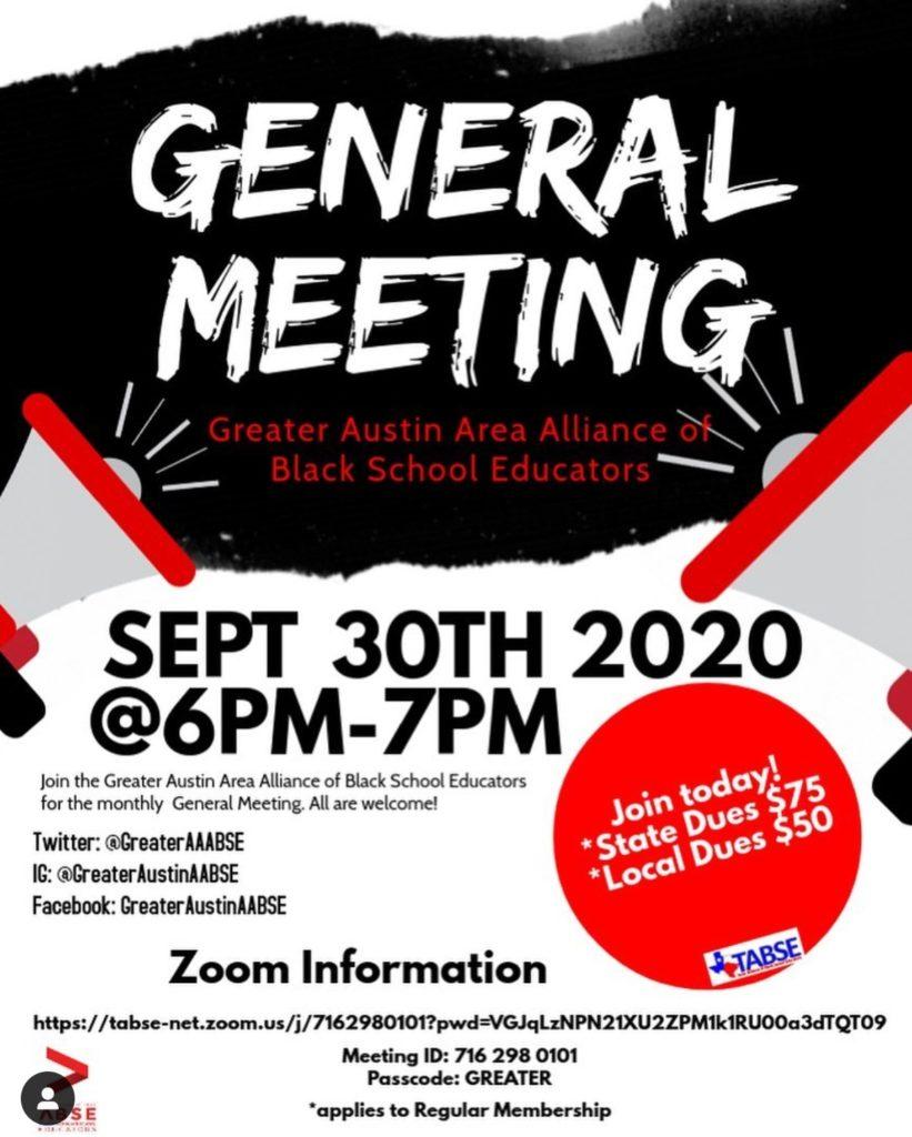 Greater Austin Membership Meeting