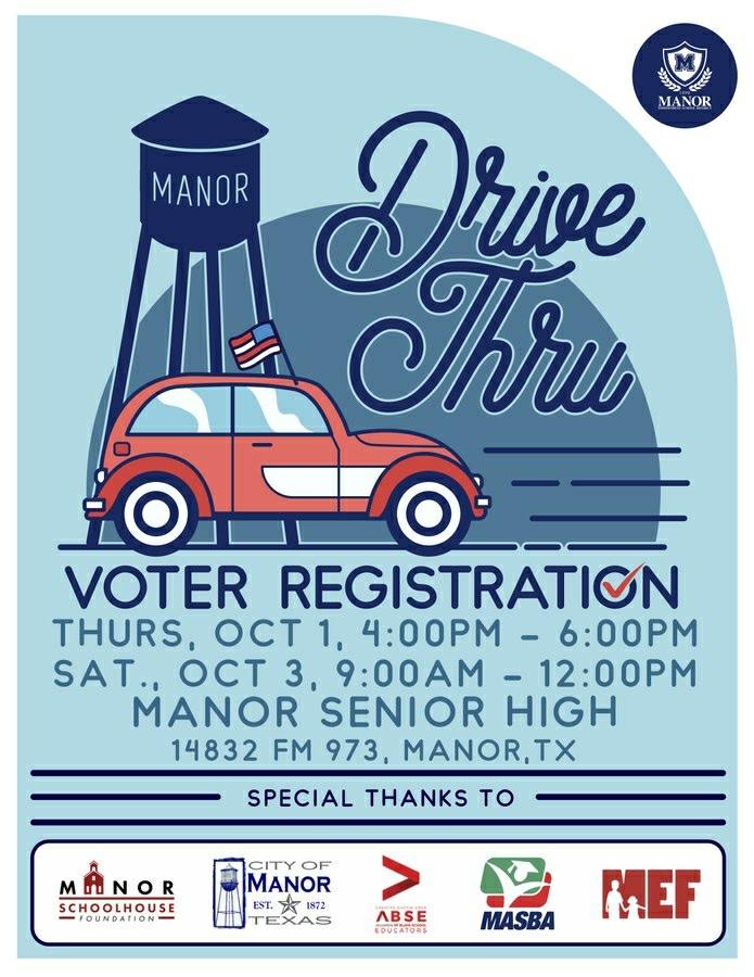 Manor ISD Drive Thru Voter Registration