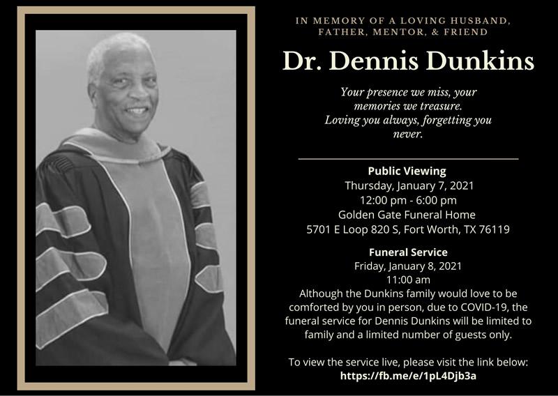 Mr Dennis Dunkins - Funeral Service