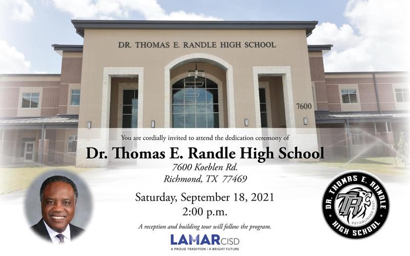 Dr. Thomas E. Randle High School - Dedication Ceremony @ Dr. Thomas E. Randle High School