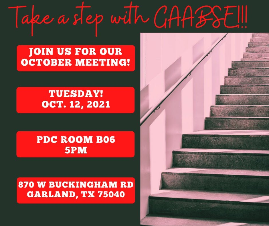 Garland AABSE October Meeting @ PDC Room B06